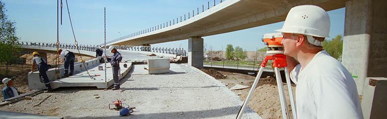 Работа на предприятии (возведение мостовых сооружений):