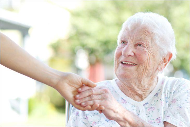 Работа (опека над пожилой женщиной):
