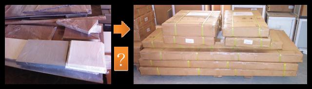 Работа на мебельном предприятии (пакование):