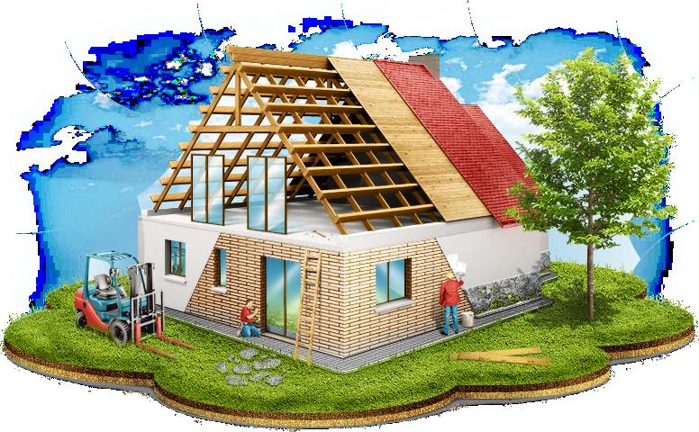Работа при постройке домов «с ноля»: